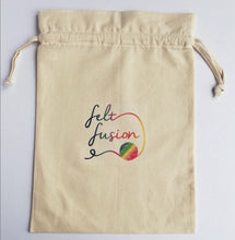Load image into Gallery viewer, Felt Fusion logo cotton project bag