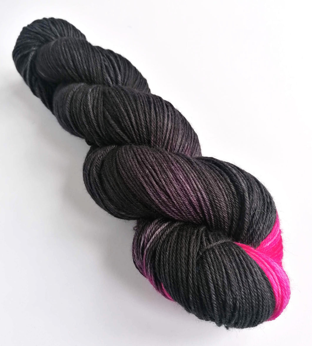 Black Like My Heart on superwash merino/cashmere/nylon sock yarn.