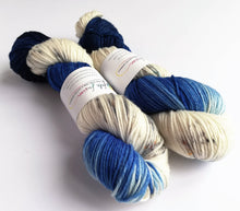 Load image into Gallery viewer, Blue Amanita on Superwash Merino DK.