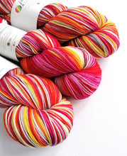 Load image into Gallery viewer, Butterbean on a Superwash Merino/Nylon sock yarn.