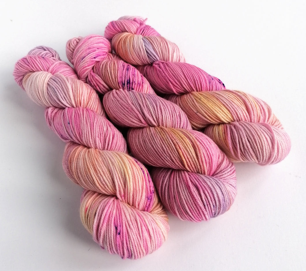 Dream Fields, hand dyed on Superwash Merino crazy 8 DK.
