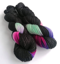 Load image into Gallery viewer, Gothic Bouquet on superwash merino/cashmere/nylon DK yarn.