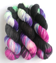 Load image into Gallery viewer, Oops I Did It Again on superwash merino/cashmere/nylon DK yarn.