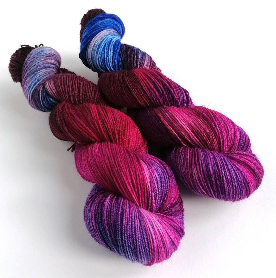 Gothic Rose on Superwash BFL/Nylon sock yarn.