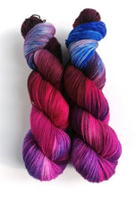 Load image into Gallery viewer, Gothic Rose on Superwash BFL/Nylon sock yarn.
