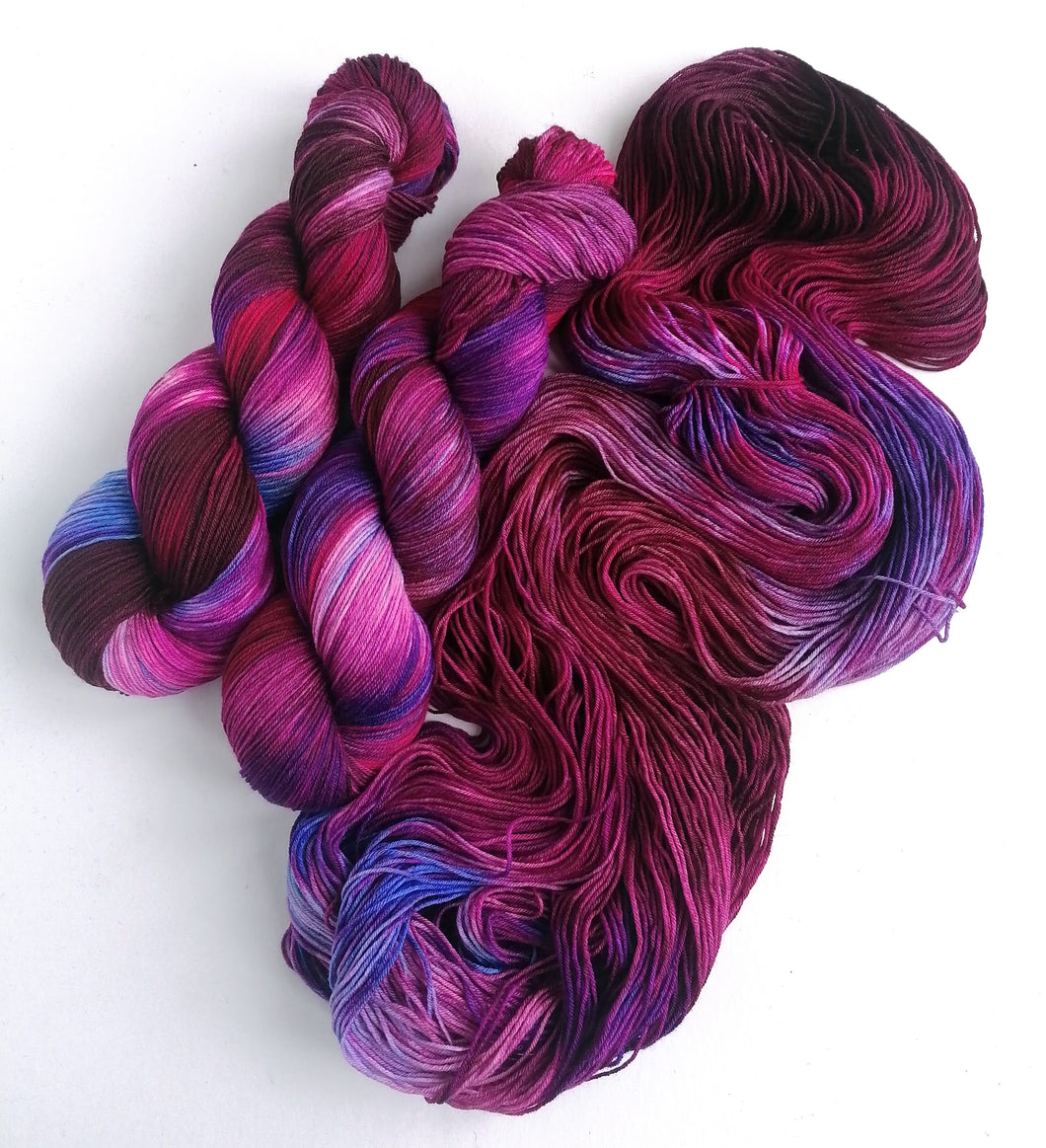 Hand dyed yarn pre-order - Gothic Rose - Dyed to Order.