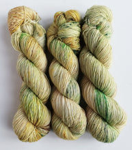 Load image into Gallery viewer, Lothlorien on superwash merino singles 4ply/fingering weight.