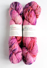 Load image into Gallery viewer, Love Me Do on Superwash Merino crazy 8 DK.