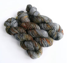 Load image into Gallery viewer, Mordor on superwash merino singles 4ply/fingering weight.