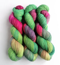 Load image into Gallery viewer, Winter Garden on Superwash BFL/Nylon sock yarn.
