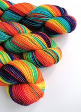 Load image into Gallery viewer, Rainbow on non-superwash BFL 4ply.