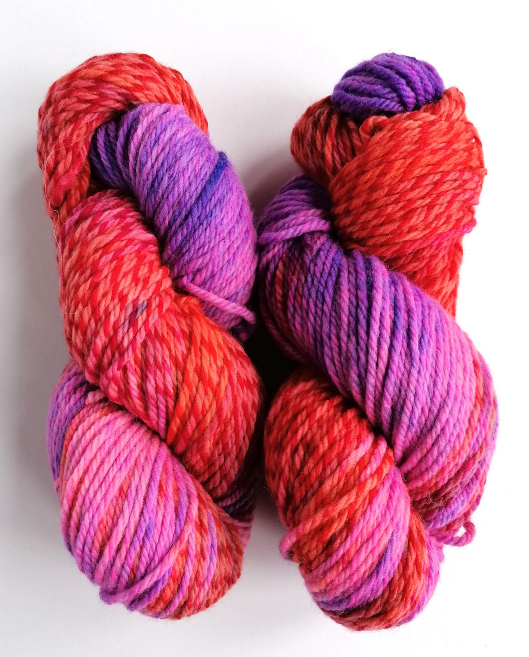 SIN BIN pink, purple and red merino.