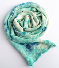 Load image into Gallery viewer, Hand dyed sock yarn blank in a superwash merino/nylon/sparkle base - Snowflake.