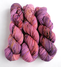 Load image into Gallery viewer, Pinks and purples on Superwash Merino crazy 8 DK.