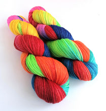 Load image into Gallery viewer, Melody on a superwash merino/bamboo 4ply/fingering weight.