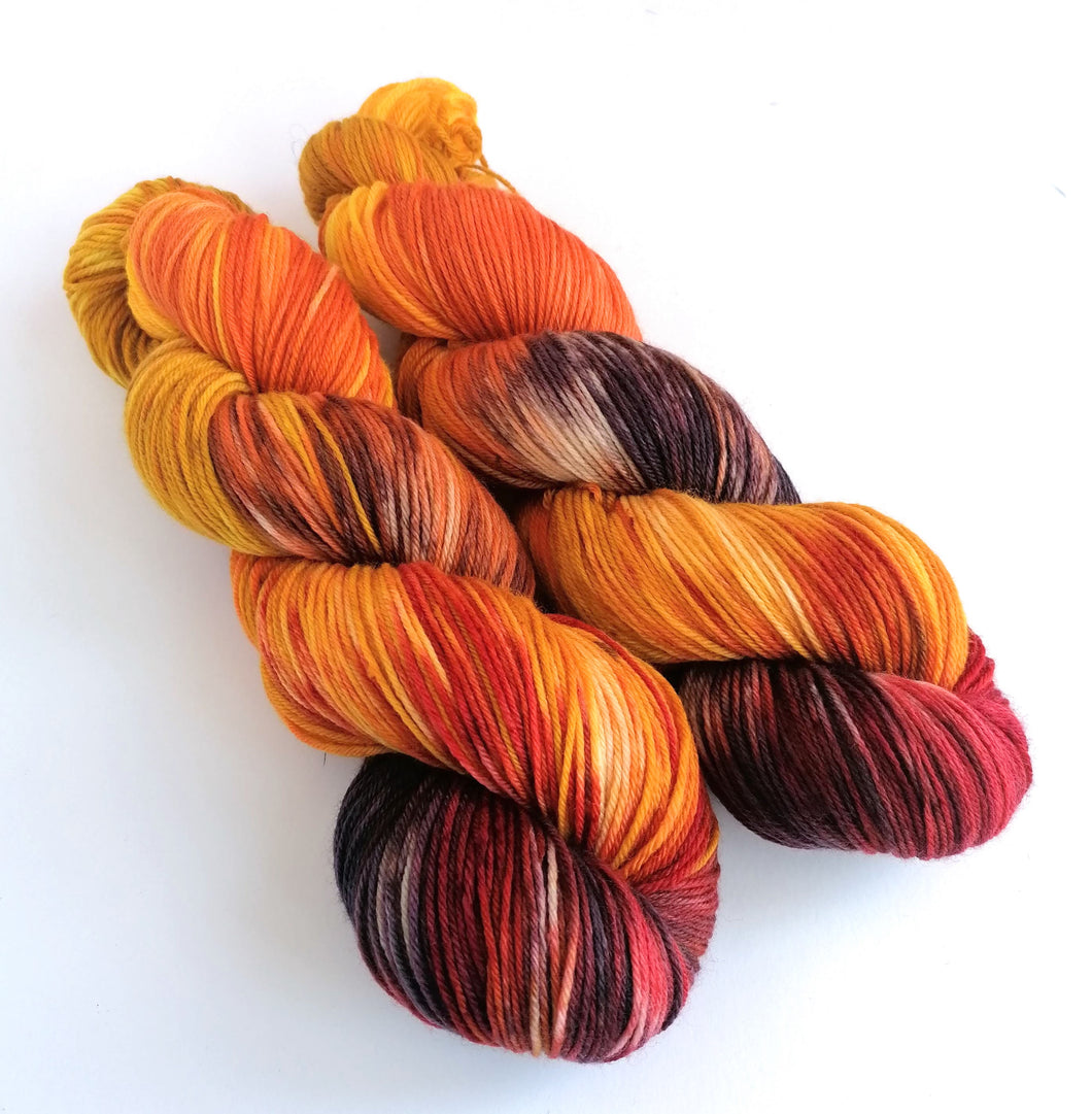 What Katie Did on a superwash merino/bamboo 4ply/fingering weight.