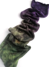 Load image into Gallery viewer, Hand dyed sock blank in a superwash merino/silk base in Witchy Woman.
