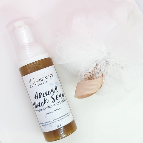 African Black Soap Foaming Facial Cleanser