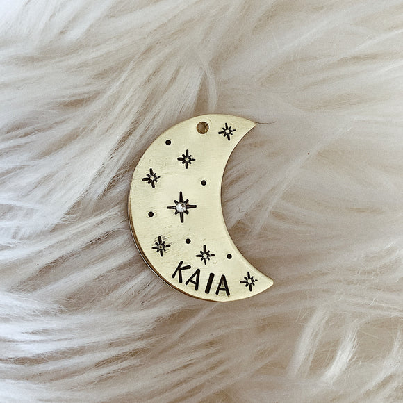 Moon Shape Tag
