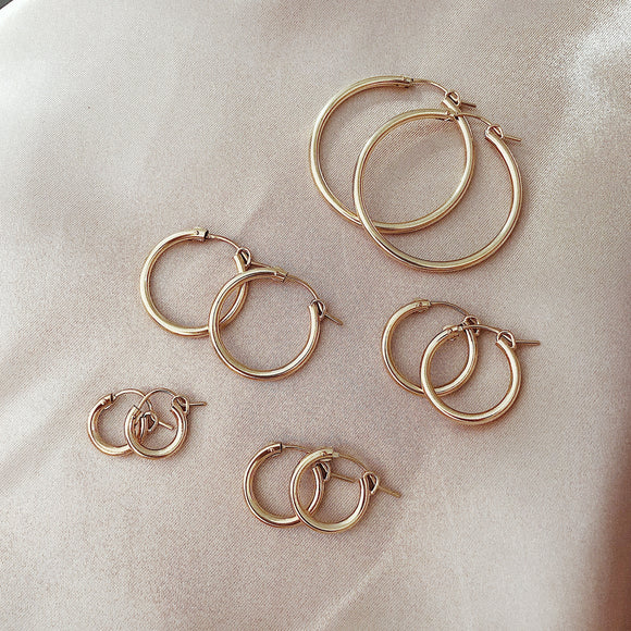 14k gold filled Chubby hoops