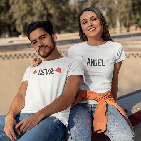Devil, Angel! – Couple T-Shirts Online - Popstore