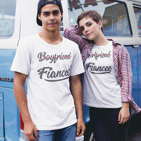 BOYFRIEND FIANCE, GIRLFRIEND FIANCE! – Couple T-Shirts Online - Popstore