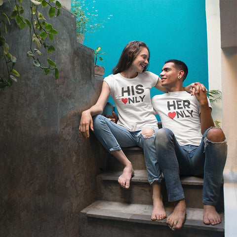 His Only, Her Only! – Couple T-Shirts Online