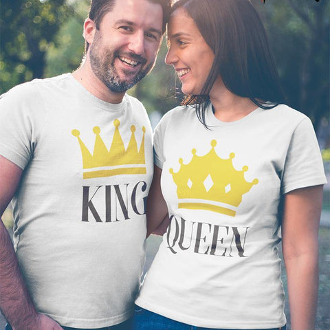 King, Queen! – Couple T-Shirts Online - Popstore