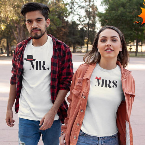 Mr & Mrs! – Couple T-Shirts Online