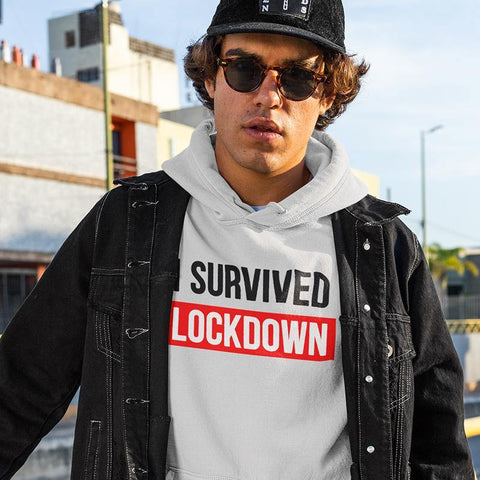 I Survived LockDown Designer Hoodie Sweatshirt - Popstore