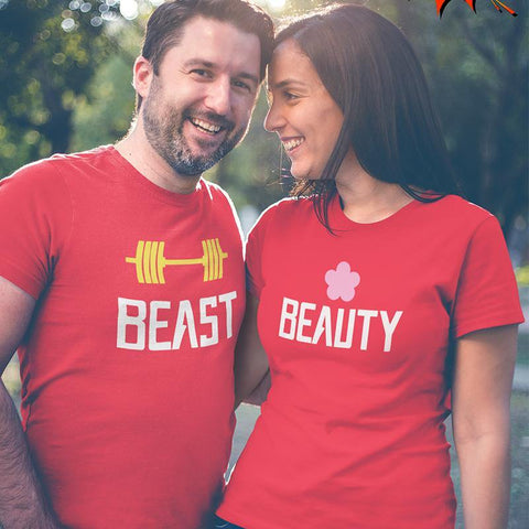 Beast-Beauty Couple T-Shirts Online