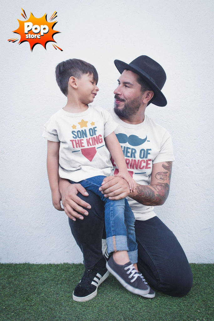 Father Of The Prince Matching Tees For Father And Son (Set Of 2) - Popstore