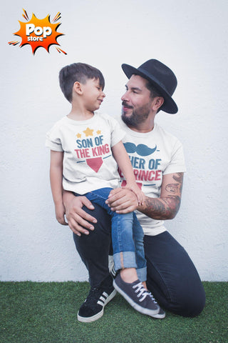 Father Of The Prince Matching Tees For Father And Son (Set Of 2)