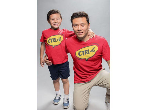 CTRL C CTRL V Matching Tees For Father And Son (Set Of 2)