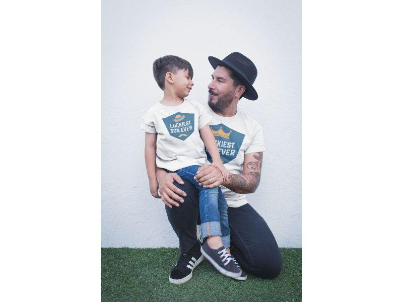 Luckiest Son-Father Ever! Matching Tees For Father And Son (Set Of 2)