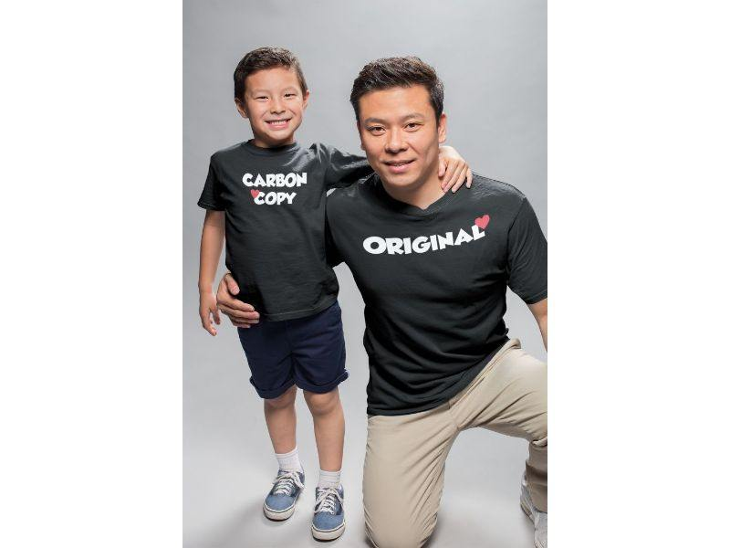 Original Carbon Copy Cotton Father-Son T-Shirts - Popstore