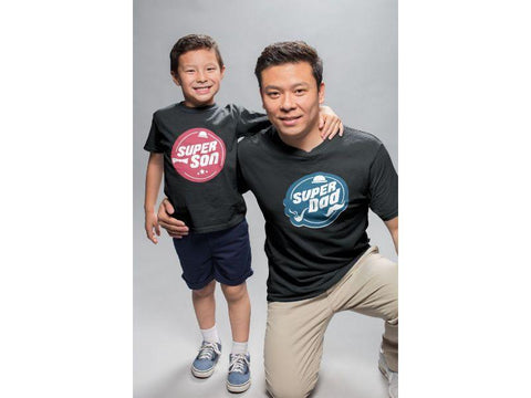 Super Son Super Dad ! Matching Tees For Father And Son (Set Of 2)