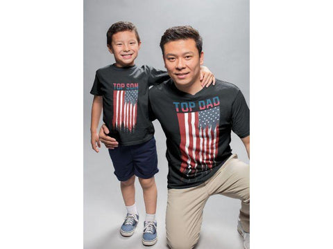 Top Son Top Dad ! Matching Tees For Father And Son (Set Of 2)