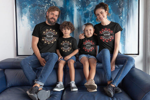 Family Matching Printed T-Shirts (Set Of 4)