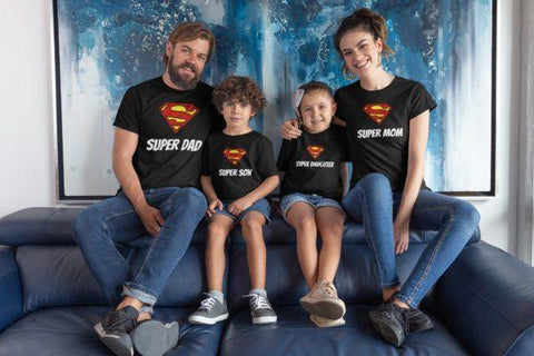 Super Family Matching Cotton T-Shirts (Set Of 4) - Popstore