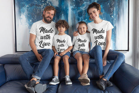 Made With Love Family Matching Cotton T-Shirts (Set Of 4)