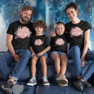 Kind With Yourself Family Matching Cotton T-Shirts (Set Of 4) - Popstore