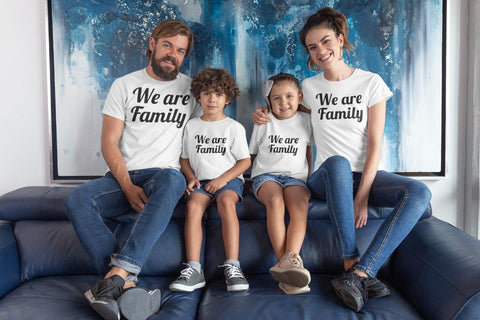 We Are Family Matching Cotton T-Shirts (Set Of 4)