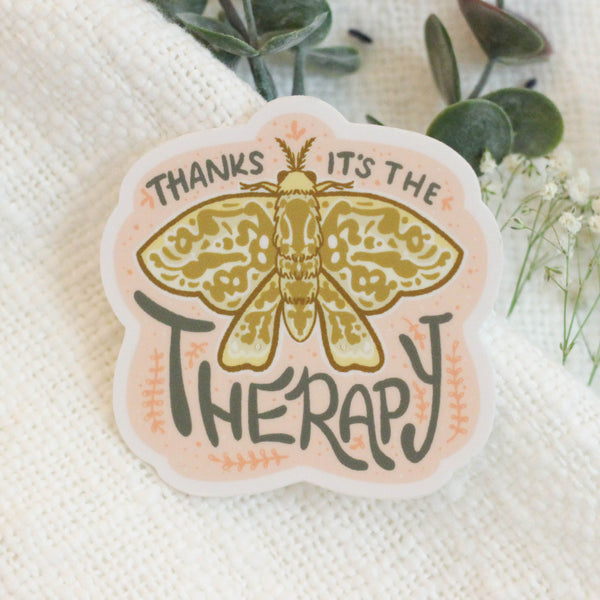 Therapy Moth Sticker