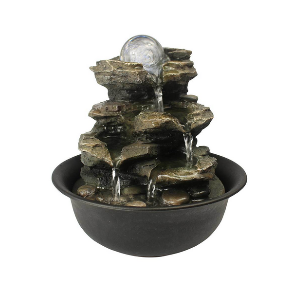 Cascading Rock Tabletop Fountain