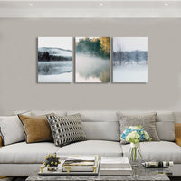 "The Scene ""Winter Lakes"" Canvas Triptych"