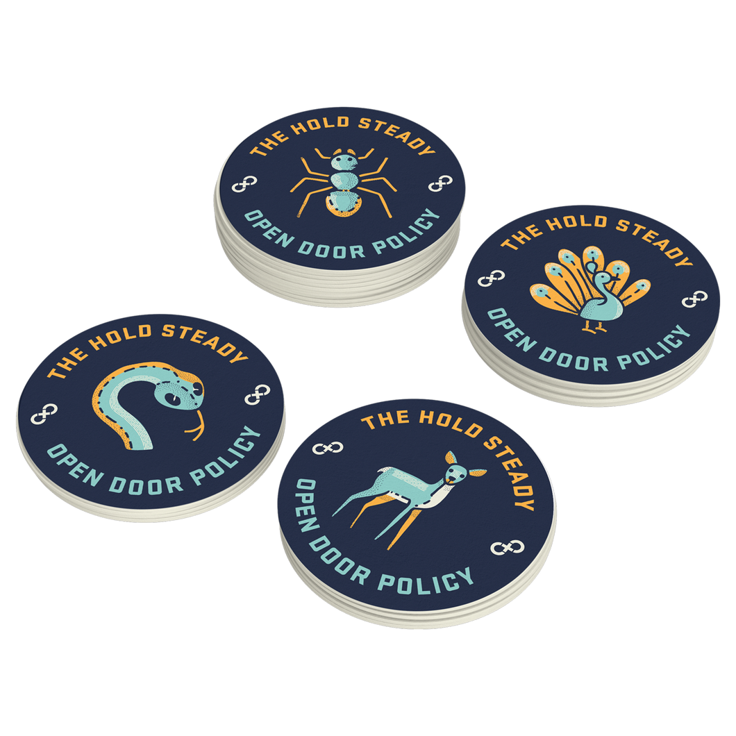 Open Door Policy 4pc Coaster Set