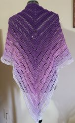 'Lavender Fields' Shawl
