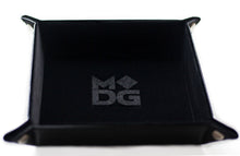 Load image into Gallery viewer, Black square velvet dice tray.