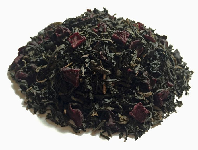 Loose leaf tea including: Black teas, pu­erh tea, lapsang souchong tea, beetroot and bergamot oil.